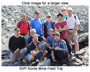 The Korite Ammolite field trip was fantastic! A wonderful crew from the 2017 SVP Meeting attended. We found this beauty with vertebrate predation scars.